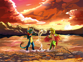 [Commission] The Adventure at Dusk by Vaylore