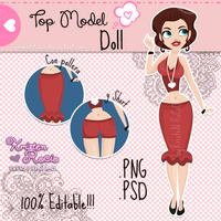 Top Model Doll PSD y PNG by RoohEditions