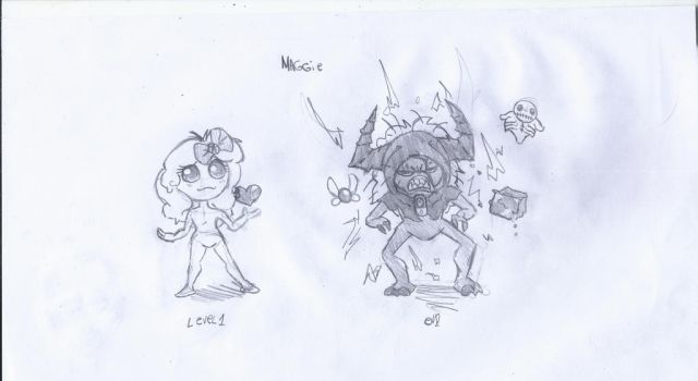 binding of isaac characters challage 1: Maggie by darkchakal