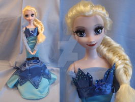 Frozen Elsa desginer collection dress ooak by kara023