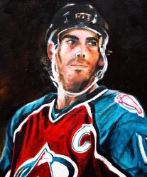 'Joe Sakic' by HockeyPaintings