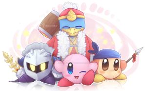 Kirby And His Friends by ChocolateBat04