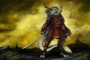 Sek-Rataa the Lone Dragon by TheLivingShadow