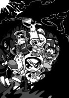 Billy and Mandy Monoclome by EZstrongs