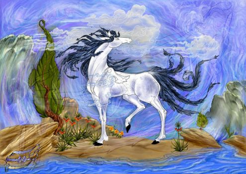 horse by behzadpainter
