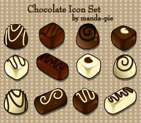 Chocolate Icon Set by manda-pie