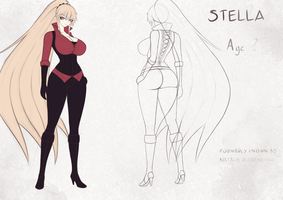 Stella's reference sheet by OppaiCannon