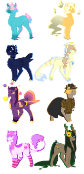 Aesthetic Generator Pony Adopts (5/8 OPEN) by animelover7032