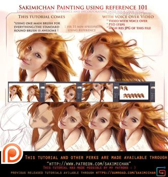 Painting with reference  voice over lesson .promo. by sakimichan