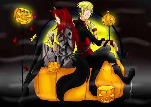 PG Halloween Event::Collab:: Wolf and Prisoner?? by Keal-aloha