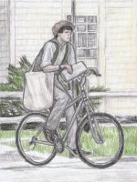 Paul McCartney as a paperboy by gagambo