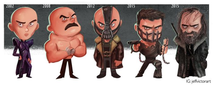 The Evolution of Tom Hardy by JeffVictor