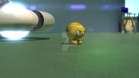 3D Tennis Ball Character. by scardi48