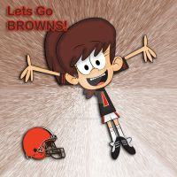 Lynn Cheers For The Cleveland Browns by LunaLoudFan10