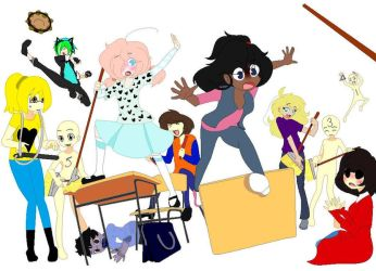Class Chaos! (Collab) by HereComesThatStar