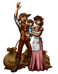 Commission: Mouseling Family by ALS123