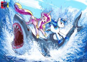 Royals JUMP the Shark by Jowybean
