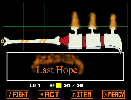 Papyrus's Weapon: Last Hope by Fuzzinator23