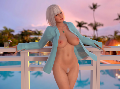 Dead or Alive DOA Christe Balcony by RadiantEld
