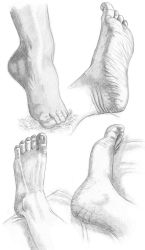 Sketch practice - foot 1 by Loulin