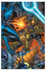 Halo pinup by TylerKirkham