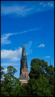 Uppsala Cathedral peeking through2[Uppsala Series] by iMehnaz