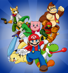 Super Smash Brothers - The Great Eight by LioSKETCH