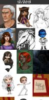 Daily doodles 2013-12 by Lysandr-a