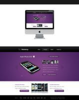 webshop layout - for sale by blind91