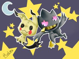 Banette and mimikyu. by rioliev