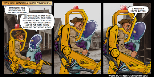 Cowboys and Aliens by CuttingRoom