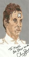 Red Dwarf Rimmer (Chris Barrie) signed fan art by thunderaxewarrior