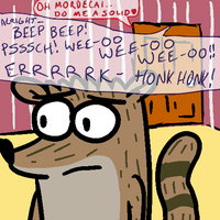 The Eternal Horror of Being Rigby by dehodson