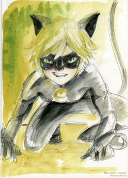 Chat Noir by elisamoriconi