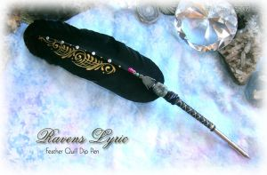 RAVENS LYRIC Feather Pen by ChaeyAhne