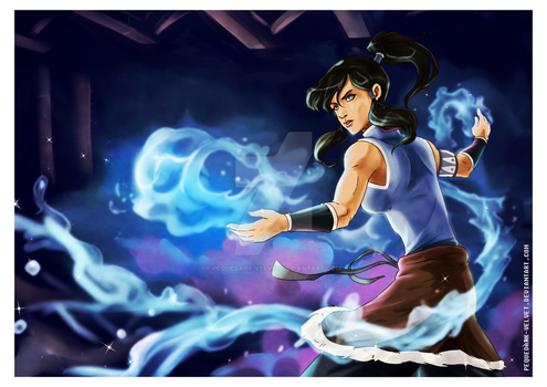 Fan art .:Korra:. by PEQUEDARK-VELVET