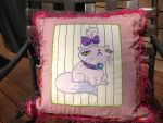 Opalescence Throw Pillow Front by reluctantbrony