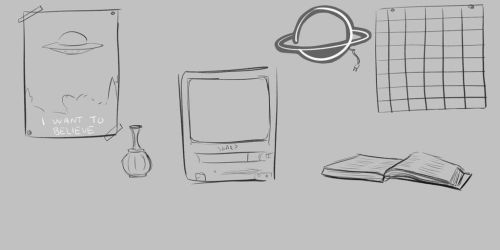 All the Objects (Curious Desk) by Kingdom-of-milk