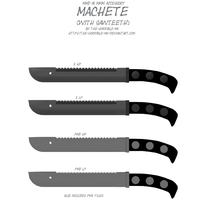 [MMD + M3 Accessory] Machete with Sawteeth + DL by The-Horrible-Mu