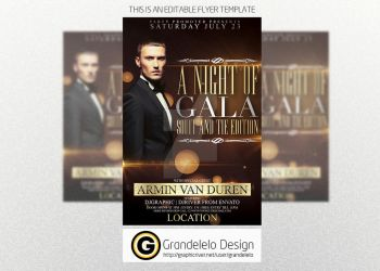 A Night of Gala Flyer Template by Grandelelo