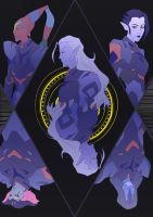 Lotor and his Generals by Rebekle