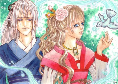 ACEO: Brother and Sister by IvoryPeony