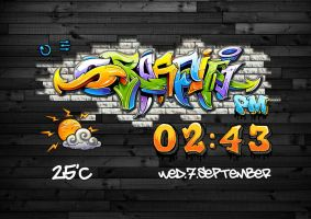 Graffiti Clock for xwidget by Jimking