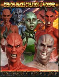 EJ Demon Races Creator and Morphs for G8 F and M by emmaalvarez