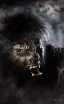 The Wolfman Speed Paint by indecisivecharacter