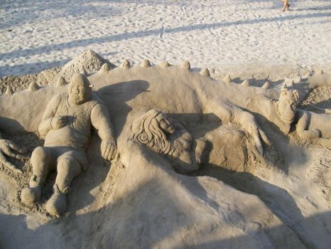 Shrek from Sand by DarkRaider2012