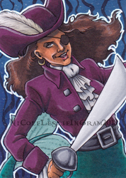 MerMay 2018 Day 7 Pirate by CrystallineColey