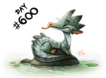Day 600# AWH YEEH!!! by Cryptid-Creations