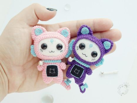 Kittens, the Space Travellers by theAmigurumer