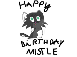 Mistlepaw's birthday by DelphoxGamerYT